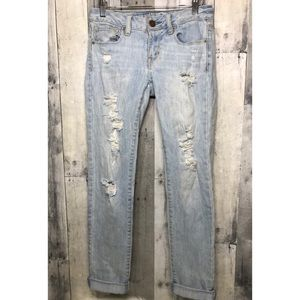 American eagle skinny distressed jeans